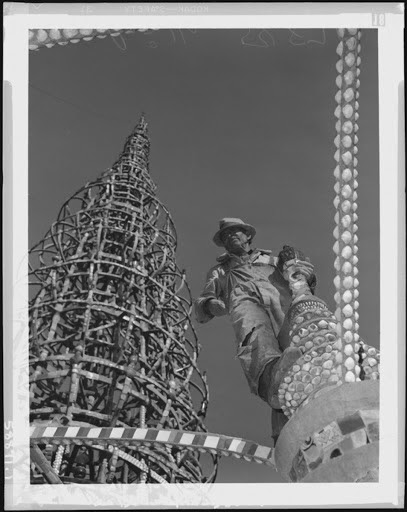 Sabato Rodia on the Watts Towers - Watts Towers and Lucien den Arend - Google Arts & Culture