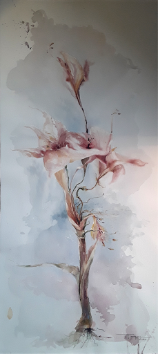 Danse macabre_ aquarelle Jeanne PAPA