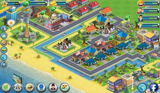Town Building Games Tropic Town Island City Sim Android