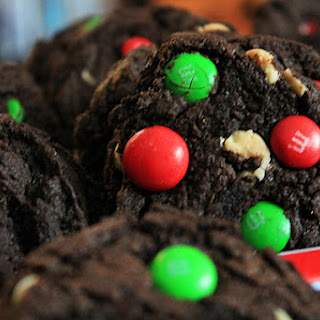 Dark Chocolate Peppermint M&M Cookies