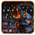 Flaming Wolf Keyboard Theme