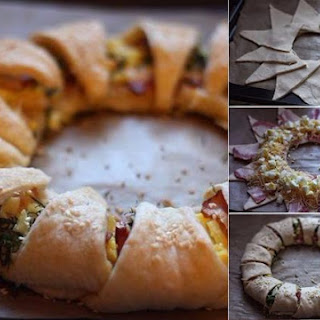 Wreath Cake With Bacon, Eggs And Cheese