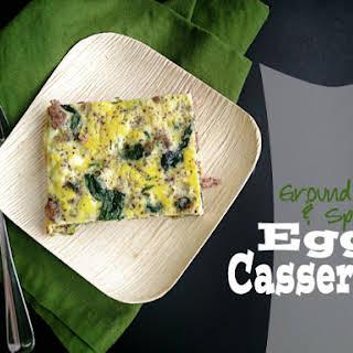 Ground Beef & Spinach Egg Casserole.