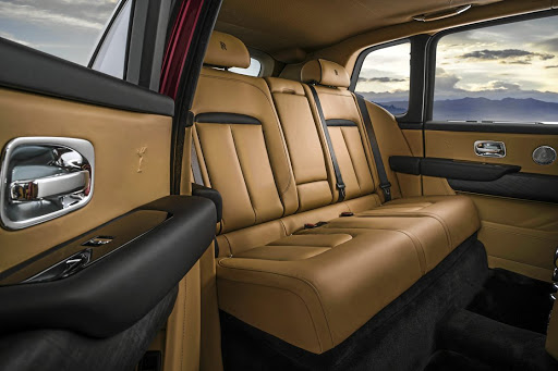 Rear seat options include space for three, or two even more luxurious chairs