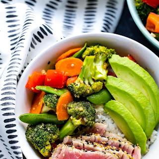 Miso Sesame Tuna Rice Bowls Recipe