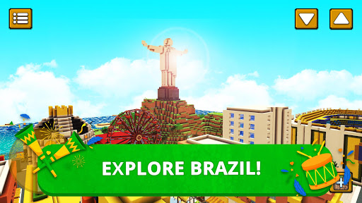 Brazil Craft: Blocky City Building Addicting Games - screenshot