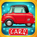 Cars puzzles with animation icon
