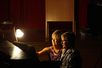 Photo: Harmonettes' Accompianists Jan and Donna
