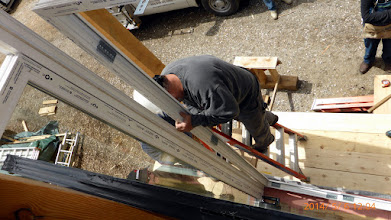 Photo: ... so's we can screw, foam & caulk the frames together ...