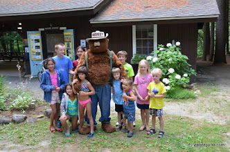 Photo: Smokey and kids at the Nature Center at Jamaica State Park by Linda Carlsen-Sperry