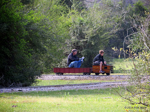 Photo: Mike and Case Alexander are not looking back: no train, no conductor.  HALS OPS Day 2014-0329 RPW