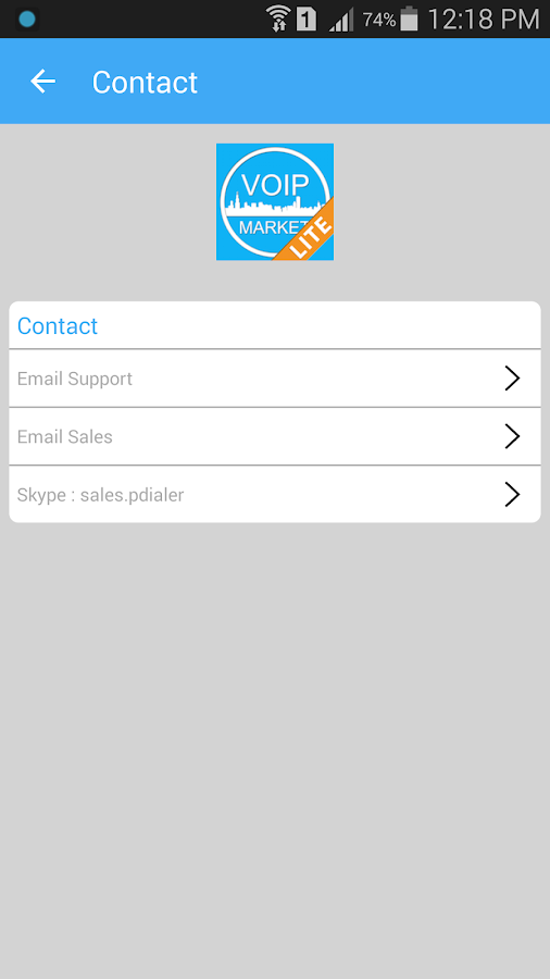 VoIP Market Lite- screenshot