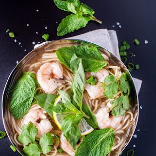 Shrimp and Noodle Soup