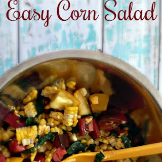 Easy Corn Salad with Tomato and Kale.