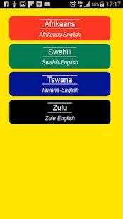 Zulu Afrikaans Swahili Tswana - náhled