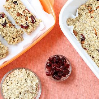Cranberry Oat Granola Bars Recipe