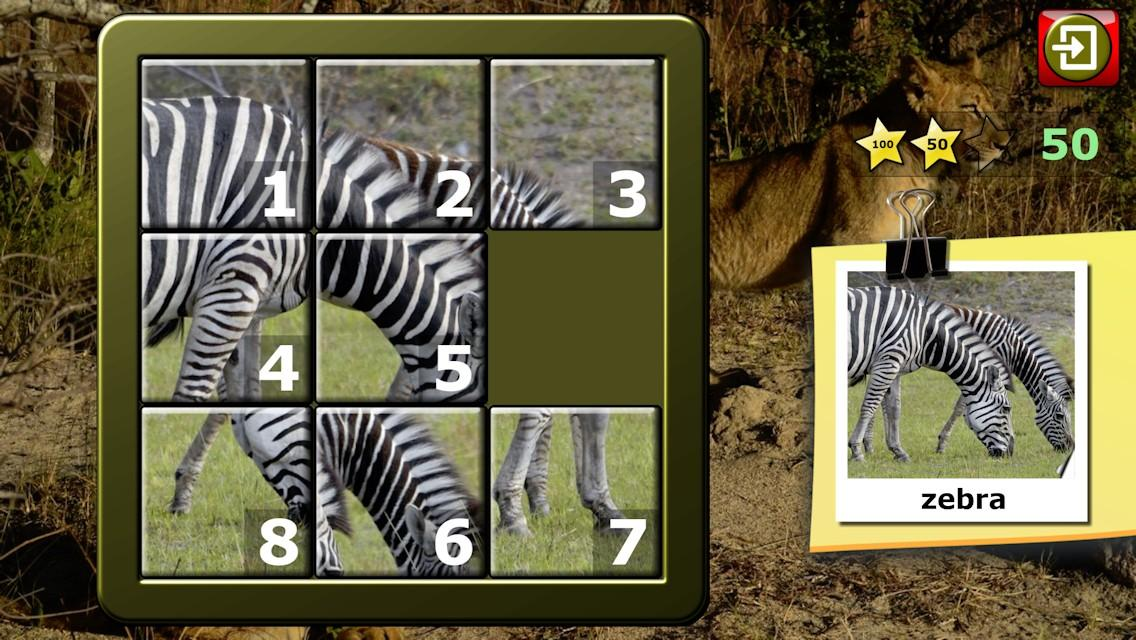 Kids Animal Slide Puzzle 15- screenshot
