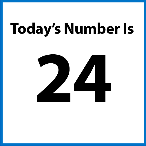 Today's number is 24.