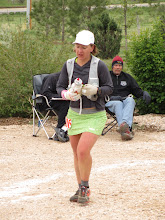 Photo: Local runner Katie Robinson on her way to an 11th overall woman's finish.