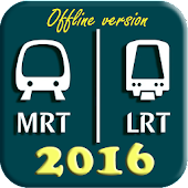 Singapore MRT and LRT Map 2016