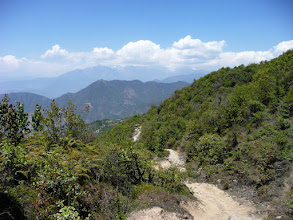 Photo: Looking down the other side of the pass towards Chisopani