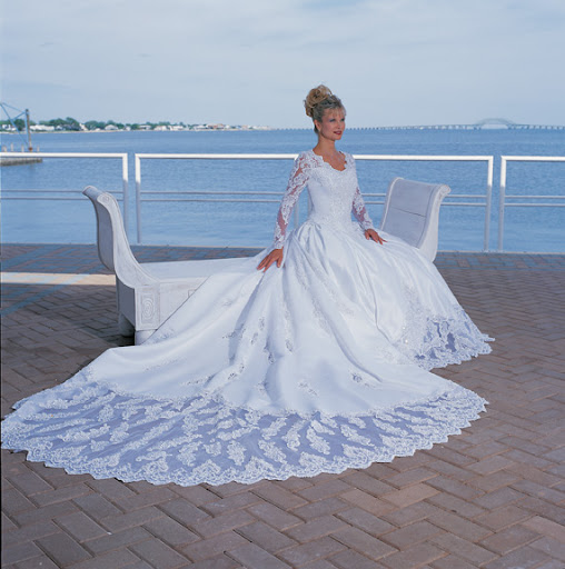 Dramatic Modest Beach Wedding Gowns 2010
