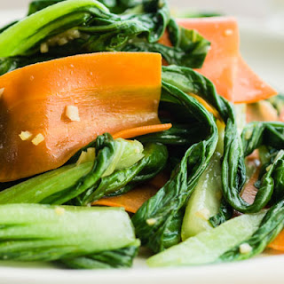 Stir-Fried Bok Choy with Carrots and Ginger.