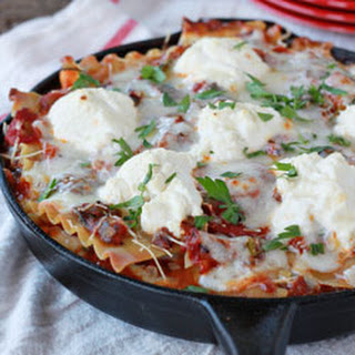 Easy Cheesy Veggie Skillet Lasagna