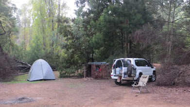 Photo: Smokey's camp complete with cubby house
