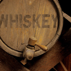 Whiskey by Emily Vickers - Artistic Objects Antiques ( whiskey, alcohol, artistic objects, object, barrel, antique, spigot )
