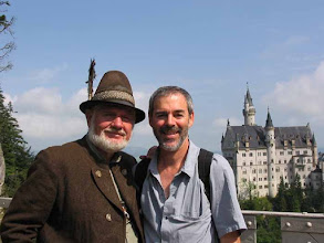 Photo: Crazy Von Ludwig Castle. BJ with Local resident.