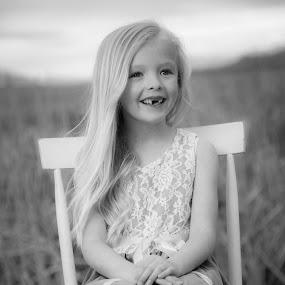Bobcat by Richard States - Babies & Children Child Portraits ( child, black and white, happy, cute, smile, portrait,  )