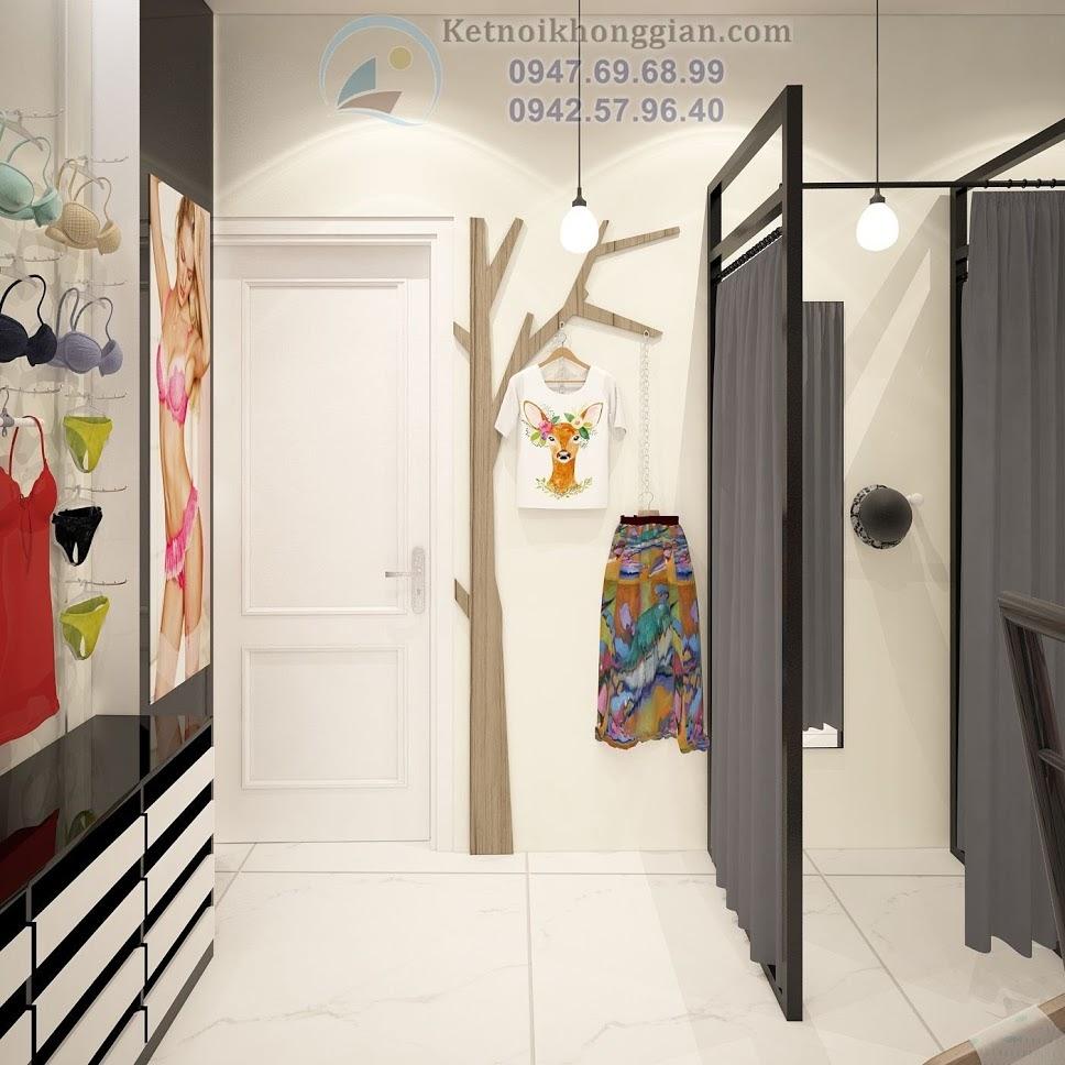 thiết kế nội thất shop thời trang công sở độc đáo