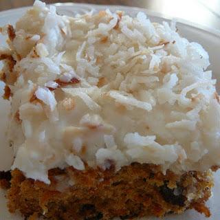 Light Tropical Carrot Cake.