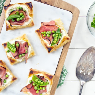 Ham + Spring Pea Pastry Squares