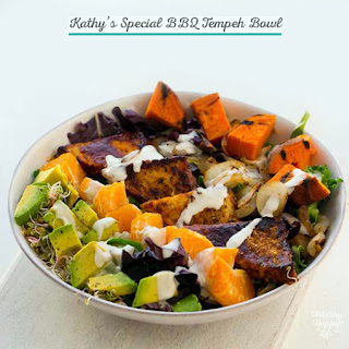 Kathy's Special BBQ Tempeh Bowl