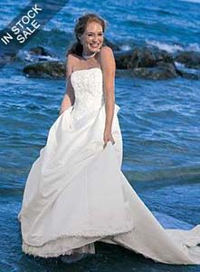 Blissful Beach Wedding Gown