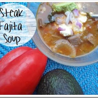 Steak Fajita Soup Recipe (or Chicken Fajita)
