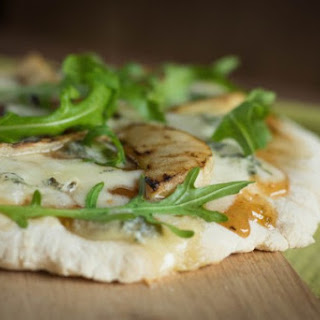 Dessert Pizza – Gorgonzola, Grilled Pear and Fig Jam.