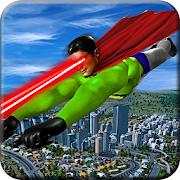 Eye Laser Superhero: Strange Flying Action Hero