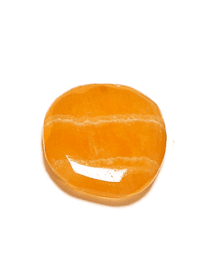 Kalcit gulorange slipad platta