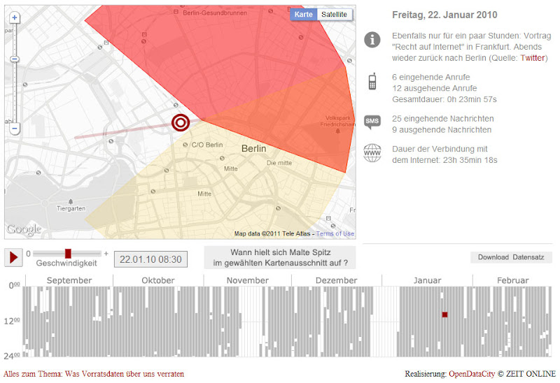 BRLNDOBLOG: Mapping Location Through Cell Phone Tracking on