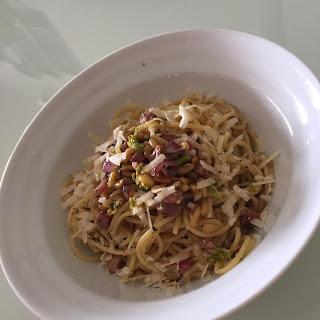 Spaghetti Pine Nuts Broccoli Pancetta.