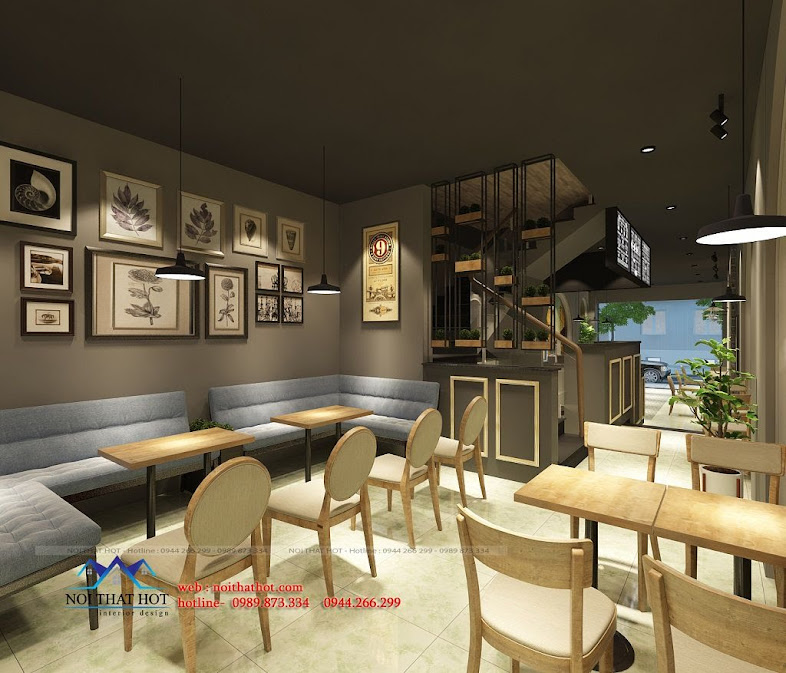 thiết kế quán cafe cá tính