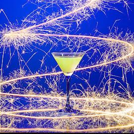 AperoFire by Eddy Maerten - Abstract Light Painting ( glass, green, fire )