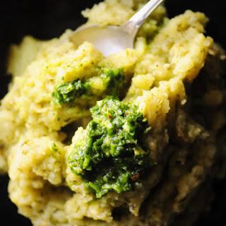 Instant Pot Chimichurri Mashed Potatoes (Vegan, Gluten-Free).