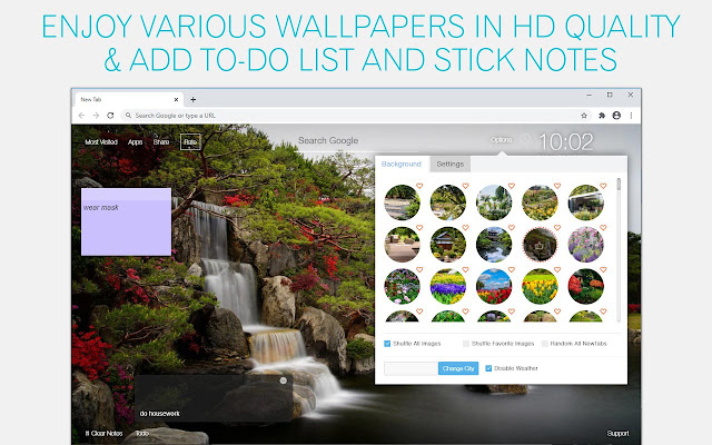 Garden Wallpaper HD Gardens New Tab