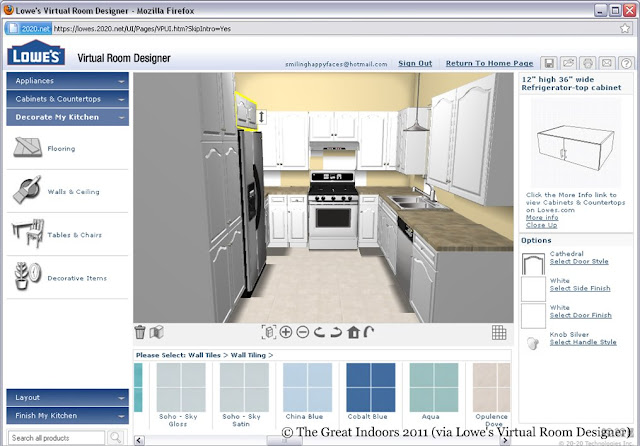 Lowes Virtual Bathroom Design : The great indoors around house kitchen