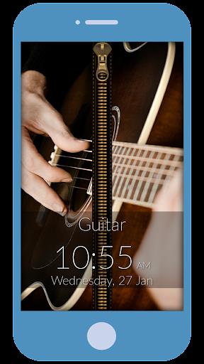 Guitar Love Zipper Locker