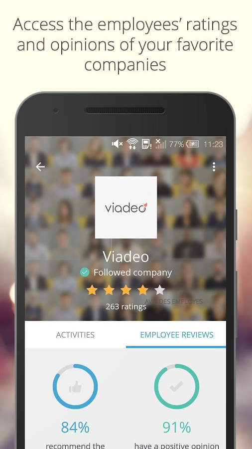 Viadeo- screenshot